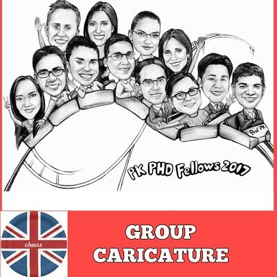 Custom Caricature Portrait from photo thank you gift idea for employees farewell