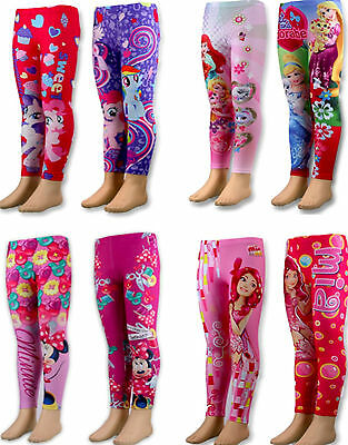 Kids Girls Disney Cartoon PAW PATROL/TROLLS/MY-L-PONY/BARBIE/Leggings Pants,2-12