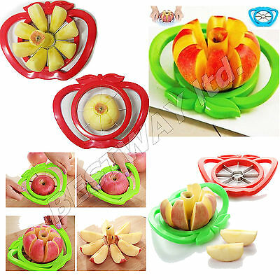 Apple Wedger Slicer Cutter Corer Divider Peeler Pear Fruit Stainless Steel Metal