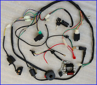 full electrics wiring harness coil cdi for cc atv full electrics wiring harness coil cdi 50cc 70 110cc atv quad bike buggy go kart