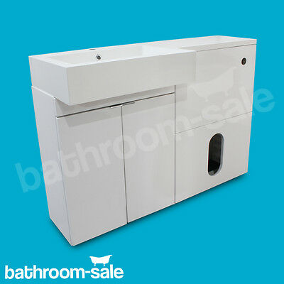 MyPlan 1200 Right Hand Basin & Top Gloss White Furniture Complete Set RRP £669