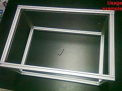 Aluminum T-slot extruded profile 20x20-6 Table or Box frame, size 500x340x240mm