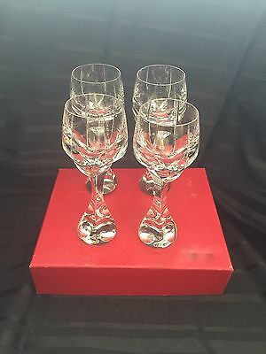 Baccarat Crystal Neptune Water Goblet 8 1/4in Signed Sold Individually