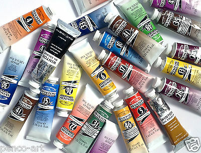 Winsor and Newton Winton oil paint colours 37ml tube Red,Black,Green,blue,Yellow
