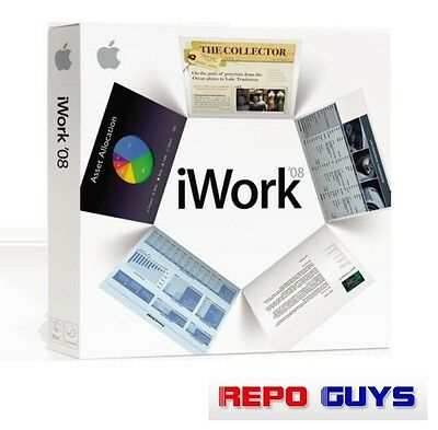 Apple iWork '08 2008 DVD Pages Numbers Keynote Family Pack MA790Z/A - NEW Sealed