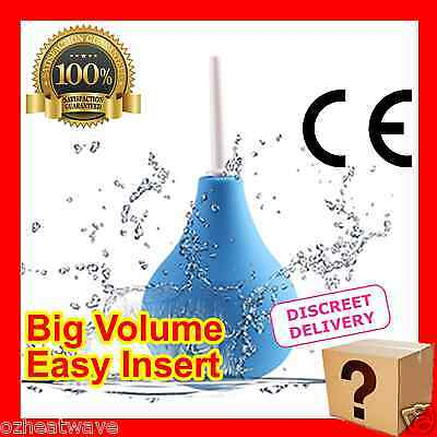 Portable BLUE BALL DOUCHE ANAL VAGINAL ENEMA Cleanser Cleansing Survival Douche