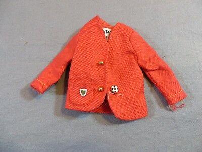 Vintage Original Barbie Skipper #1921 School Girl Red Blazer Jacket