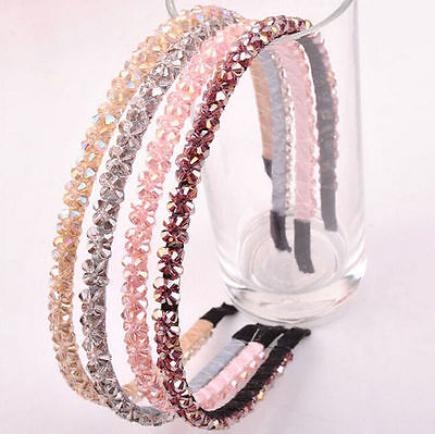 2015 Fashion Headband Head Metal Crystal Hair Band Jewelry for Women Girl Lady