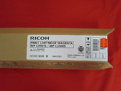 Ricoh MP C3501S MP C3300S Magenta Toner Cartridge 841438