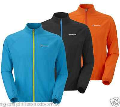 MONTANE MENS FEATHERLITE TRAIL lightweight, windproof, sports running JACKET top