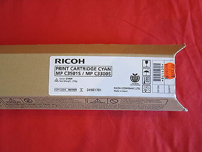 Ricoh MP C3501S MP C3300S Cyan Toner Cartridge 841439