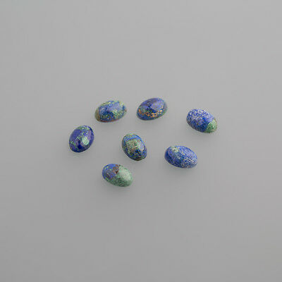 Azurit Cabochon Oval 6 x 4mm grün - blau / BOX 4