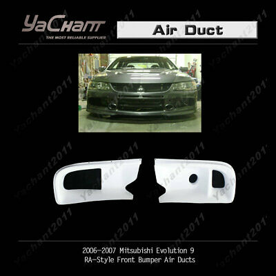FRP Auto Front Bumper Air Ducts Fit For Mitsubishi Evolution EVO 9 2004-2007