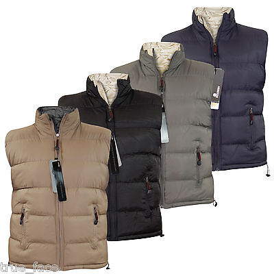 New Mens Quilted Heavy Padded Reversible Body Warmer Winter Sleeveless Gilet