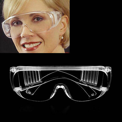 New Work Safety Glasses Clear Eye Protection Wear Spectacles Goggles KK