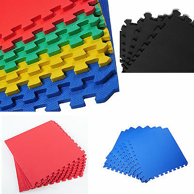 Interlocking Eva Soft Foam Floor Mats Gym Exercise Garage Office Kids Play Mat