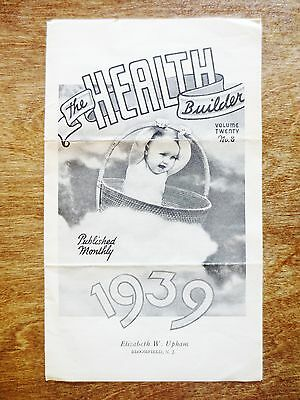 1939 The Health Builder Trifold Publication Information Chiropractor Advertising