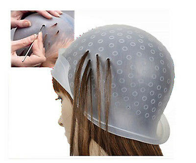 Professional Reusable Rubber Hair Colour Highlighting Cap