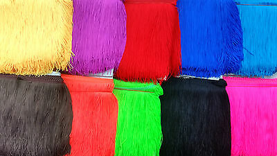 Bright Colour Fringing, Fluent Colours, 19Cm Wide X 1Metre
