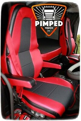 VOLVO FH4 Red ECO LEATHER SEAT COVERS