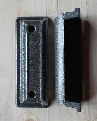 CAST IRON RIM LOCK DOOR KEEP 104mm ~ BRITISH MADE VICTORIAN RIMLOCK KEEPS ~ KP04