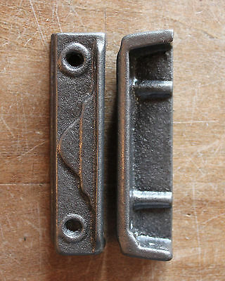 CAST IRON RIM LOCK DOOR KEEP 95mm ~ BRITISH MADE VICTORIAN RIMLOCK KEEPS ~ KP16