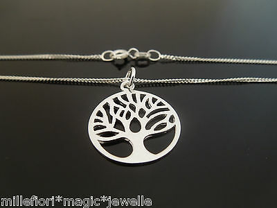 """18mm 925 Sterling Silver Tree Of Life Pendant Charm & Necklace 14"""" 16"""" 18"""" 20"""""""