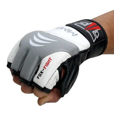FOX-FIGHT MMA FIGHTER Handschuhe echtes Leder Boxhandschuhe Freefight Grappling