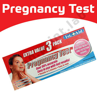 3 x Ultra Early Home Urine Pregnancy HCG Accurate Test Stick Kits - Easy to use