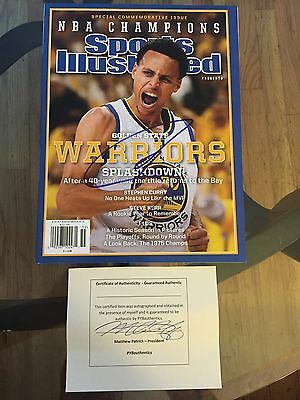 Stephen Curry SIGNED Golden State Warriors Sports Illustrated Proof Basketball