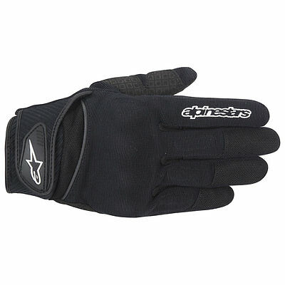 Alpinestars NEW Spartan Black Street Bike Air Vented Lite Motorcycle Road Gloves