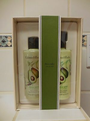 Crabtree & Evelyn AVOCADO  Shower Gel / Body Lotion W/ PUMP Set 8.5 Fl OZ Each