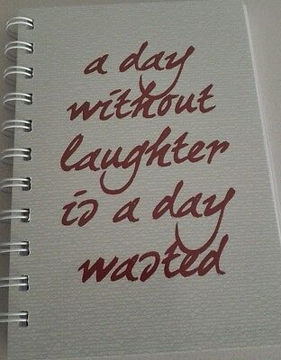 2018-2019 mini diary a day without laughter is a day wasted A6