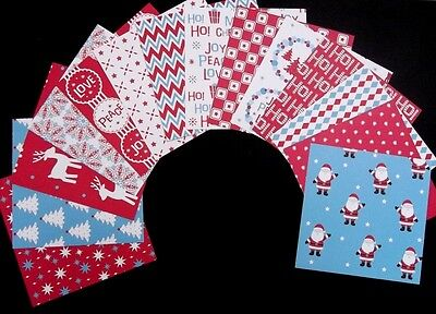 """*CHRISTMAS FUN* Colourful Christmas Scrapbooking Papers *15cm x 15cm (6 """"X 6"""")"""