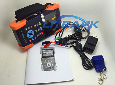 "IPC3500 Touch Screen 3.5"" Onvif IP HD 1080p Analogue WIFI Video Camera Tester"