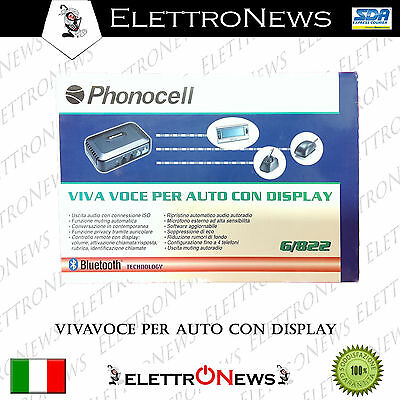 Vivavoce per Auto con Display Bluetooth PHONOCELL nuovo