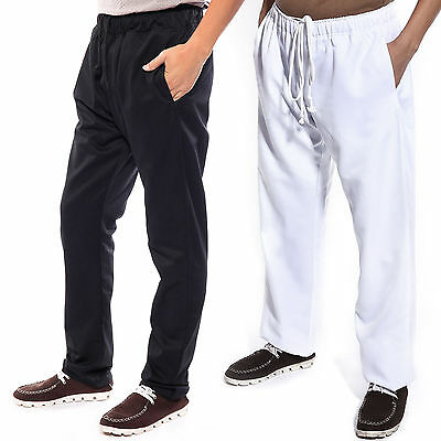 Chefs Chef Kitchen Catering Cooks Trousers Pants Uniform Waiter Black White