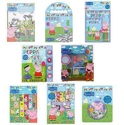 Peppa Pig Branded Colouring Arts and Crafts Pencil Crayons Travel Activity Book