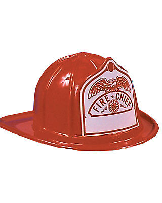 Morris Costumes Fire Fighter Plastic Fireman's Hat Red One Size. GC61