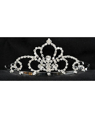Morris Costumes Gorgeous Rhinestone Ornate Styling Tiara 2 1/4 Inch Adult. GB46