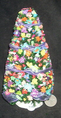 Dollhouse Miniature Mexican Style Cantina Christmas Day of the Dead Tree 1:12