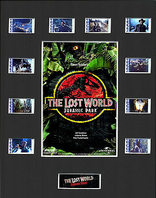THE LOST WORLD JURASSIC PARK MOUNTED 35mm FILM MOVIE CELL GREAT GIFT