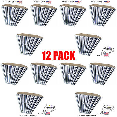 6 Bulb / Lamp T8 LED High Bay Warehouse, Shop, Commercial Light Fixture (QTY 12)