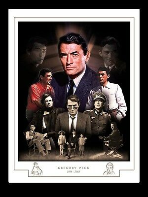 Gregory Peck Montage Print