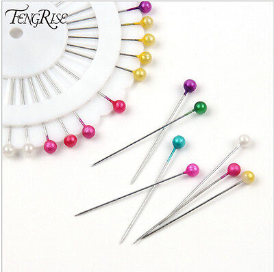 240/480x Round Pearl Snag Free Safety Pin Craft Dressmaking Hijab Scarf Tailor