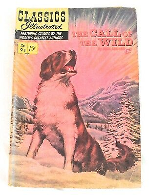 """Vintage Classic Illustrated Comic """"The Call Of The Wild"""" No. 91"""