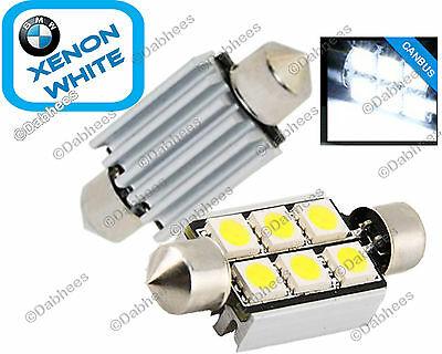 BMW 3 series E36 E46 Number Plate Light Xenon LED Bulbs C5W (Pair of 6 SMD LED)
