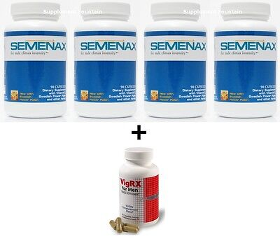Semenax Pills - Increases Ejaculation Volume By Up To 500% Fertility - 4 Bottles