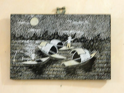 Magnificent Vietnamese Art H/ Made Egg Shell Picture Ready Hang