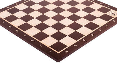 """African Palisander & Maple Wooden Chess Board - 2.0"""" With Notation & Logo"""